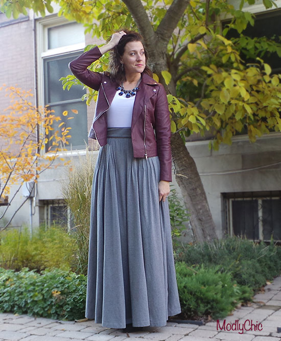 Oxblood Leather and Super Long Skirts - ModlyChic