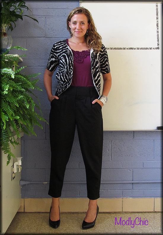 Cropped High-Waisted Black Pants - ModlyChic