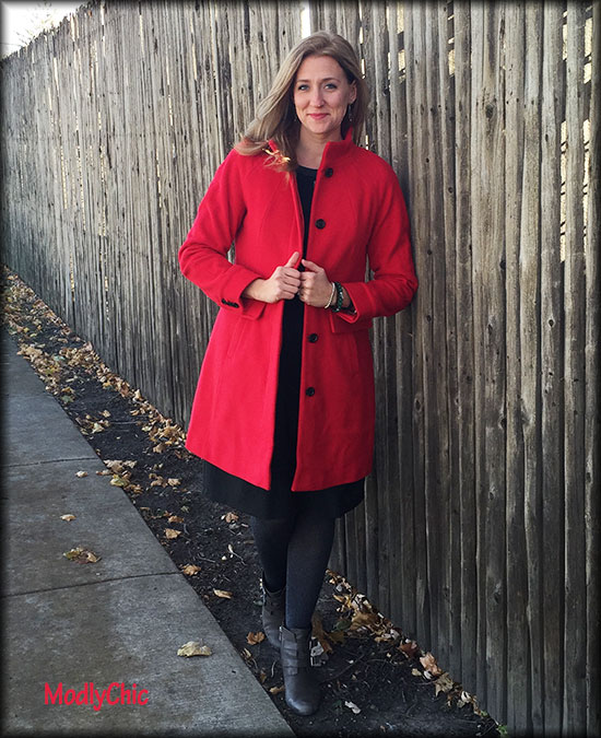 Perfect Red Coat - Gift Guide - ModlyChic