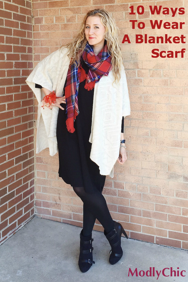 how to wear a blanket scarf modlychic