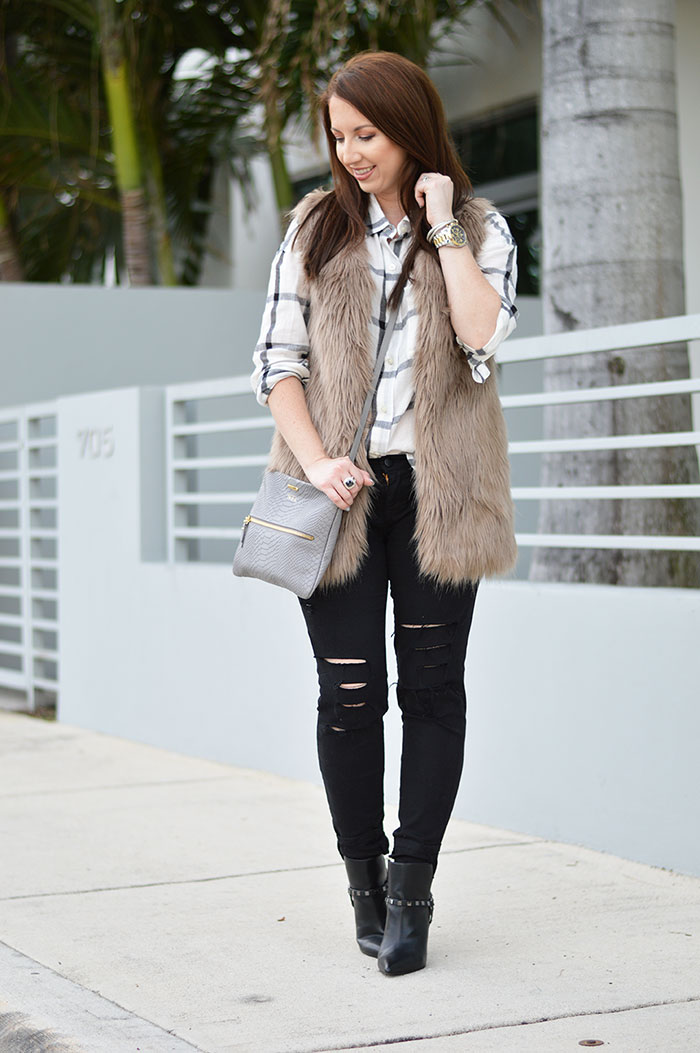 How To Wear a Fur Vest - 8 Styles to Try