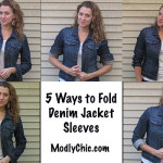 Five Ways to Style Denim Jacket Sleeves